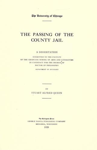 The passing of the county jail.