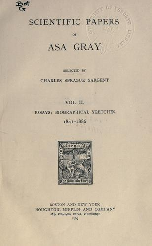 Download Scientific papers of Asa Gray