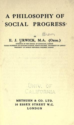 Download A philosophy of social progress