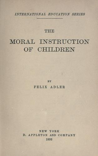 Download The moral instruction of children.