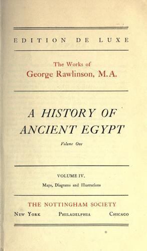 Download A history of ancient Egypt.