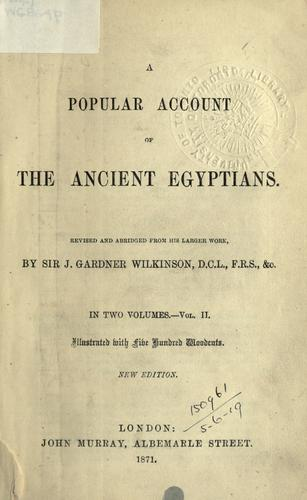 A popular account of the ancient Egyptians.