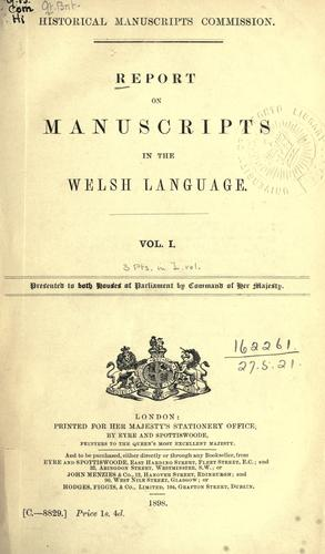 Download Report on manuscripts in the Welsh language.