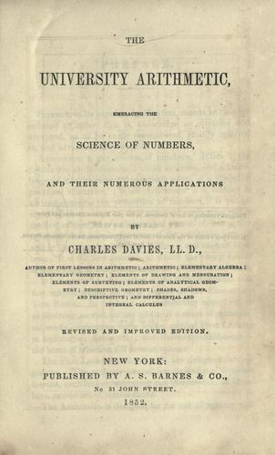 The university arithmetic