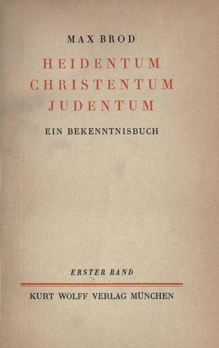 Heidentum, Christentum, Judentum