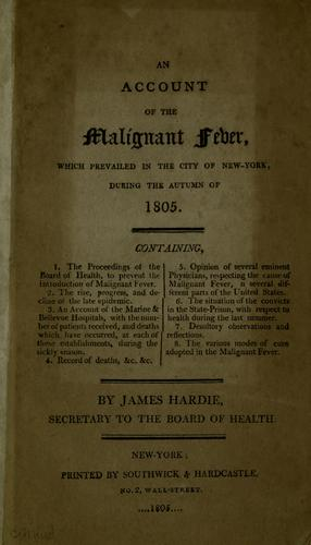 Download An account of the malignant fever which prevailed in the city of New-York
