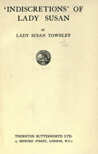 Download Indiscretions' of Lady Susan