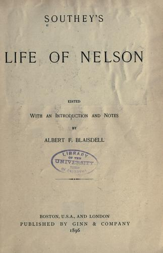 Download Southey's Life of Nelson.