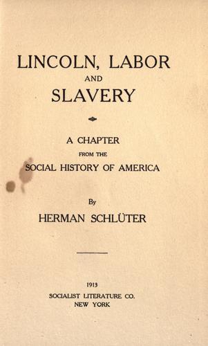 Download Lincoln, labor, and slavery