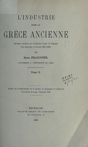 Download L' industrie dans la Grèce ancienne.