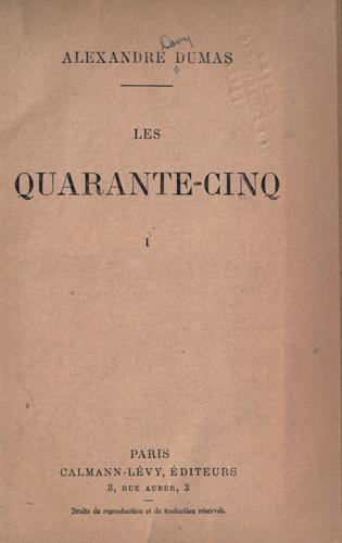 Download Les quarante-cinq.