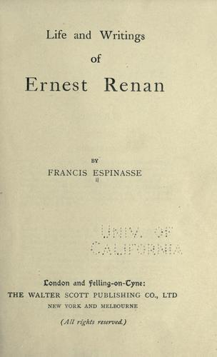 Life of Ernest Renan