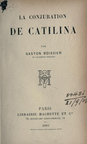 La conjuration de Catilina.