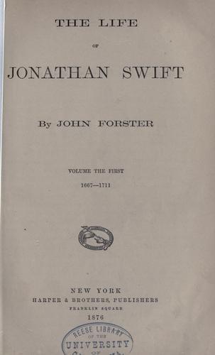 The life of Jonathan Swift.