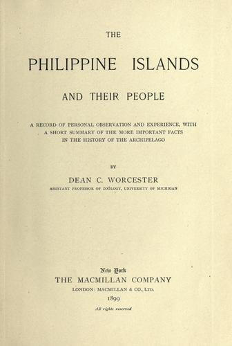 The Philippine Islands and their people