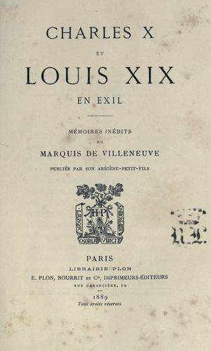 Download Charles X et Louis XIX en exil.