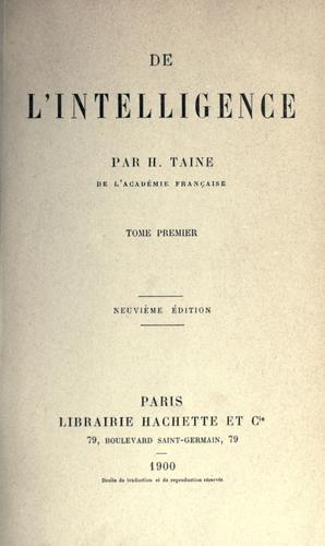 Download De l'intelligence