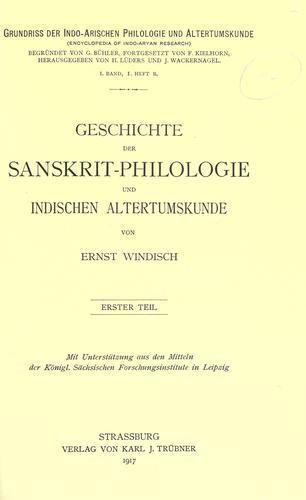 Download Geschichte der Sanskrit-Philologie und indischen Altertumskunde.