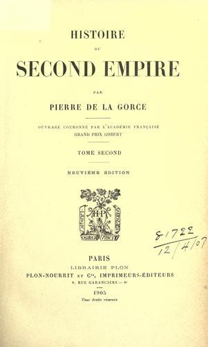 Download Histoire du Second Empire.