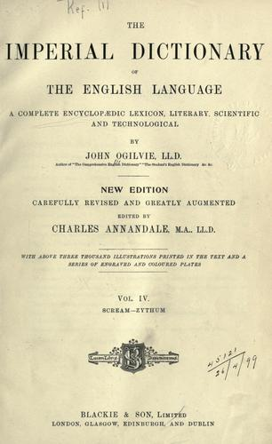Download The imperial dictionary of the English language