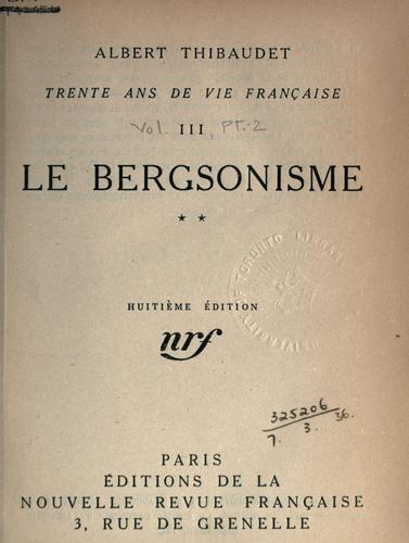 Trente ans de vie française.