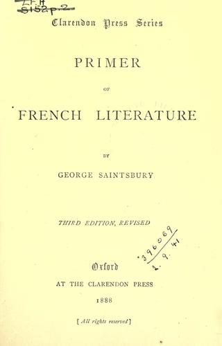 Primer of French literature.
