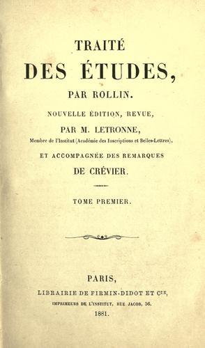 Download Traite des etudes. –.