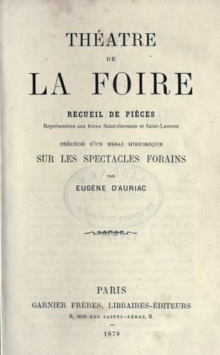 Download Théâtre de la foire