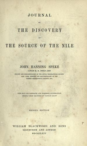 Download Journal of the discovery of the source of the Nile