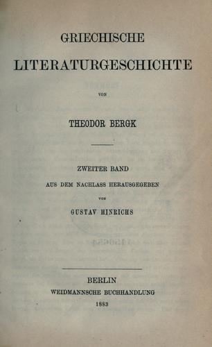 Griechische Literaturgeschichte.