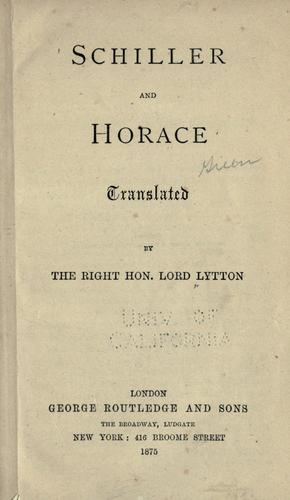Schiller And Horace by Horace