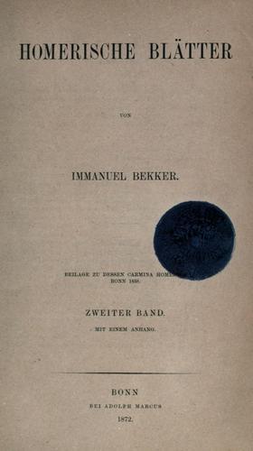 Download Homerische Blätter.