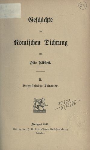 Geschichte der römischen Dichtung.