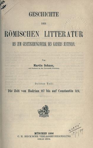 Download Geschichte der römischen Litteratur bis zum Gesetzgebungswerk des Kaisers Justinian.