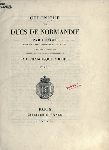 Chronique des ducs de Normandie
