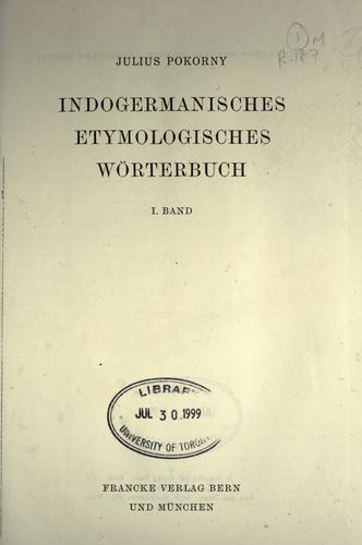 Indogermanisches etymologisches Wörterbuch