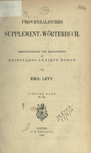 Provenzalisches Supplement-Wörterbuch