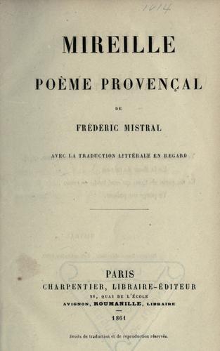 Mireille, poème provençal