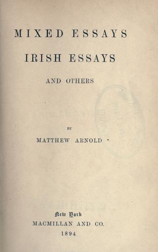 Download Mixed essays, Irish essays, and others.