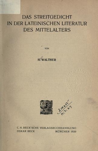 Download Das Streitgedicht in der lateinischen Literatur des Mittelalters.