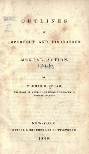 Download Outlines of imperfect and disordered mental action