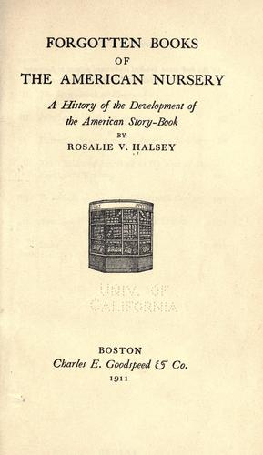 Download Forgotten books of the American nursery