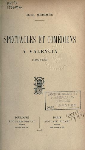 Download Spectacles et comédiens à Valencia (1580-1630)