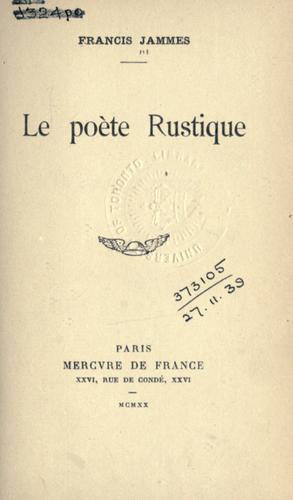 Le poète rustique.
