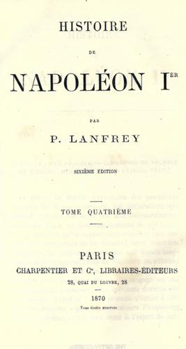 Download Histoire de Napoléon Ier