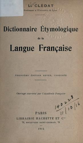 Dictionnaire étymologique de la langue française.