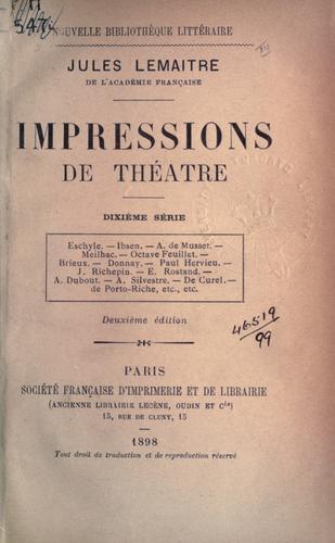 Download Impressions de théâtre.
