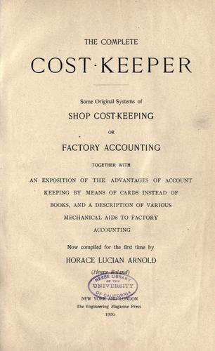 Download The complete cost-keeper