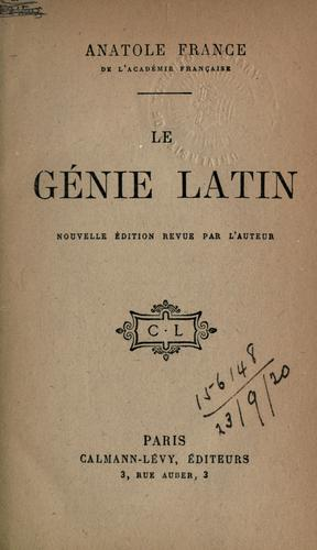 Download Le génie latin.
