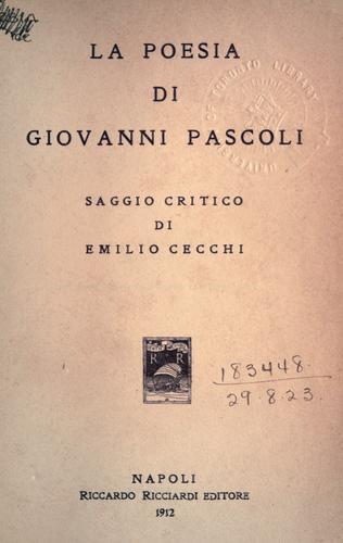 La poesia di Giovanni Pascoli